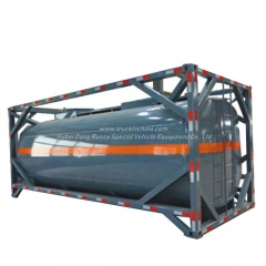 20FT ISO Container Frame, UN Portable Tank for UN 2797, BATTERY FLUID, ALKALI