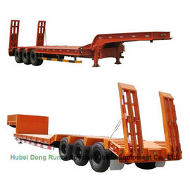 China Gooseneck  Tri-axle Hydraulic Ladder Lowbed Semi Trailer Heavy Machine 60ton,80Ton supplier