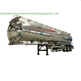 China Aluminum Alloy Fuel Tank Semi Trailer 45000L ~50000L With Air Bag Suspension supplier