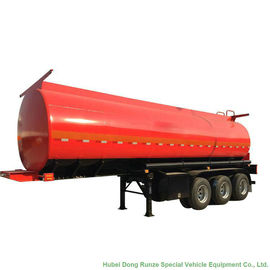 China Tri Axle Stainless Steel Tank Semi Trailer For Palm Oil / Crude Fuel / Petrol Oil Delivery supplier