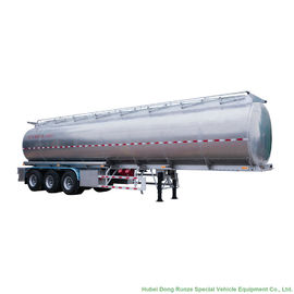 China 44m3 Aluminum Fuel Semi Trailer  3 Axle For Health Oil Transport  40T- 45Ton supplier
