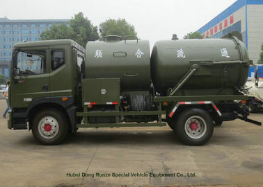 China Heavy Duty Septic Vacuum Trucks For Oilfield / Fecal / Sewer Cleaning supplier