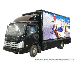 China Outdoor Mobile LED Billboard Truck , Vehicle Mounted LED Screen For Advertising supplier