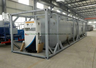 China Dong Run Refuel Tank Container 40 FT , ISO Mobile Gasoline Station Tank supplier