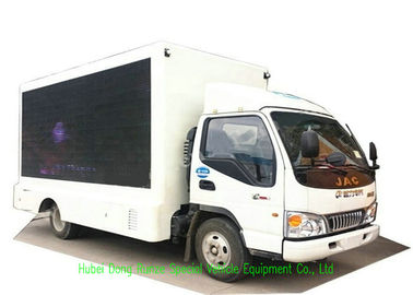 China JAC Mobile LED Advertising Truck With Foldable Stage And Screen Lifting System 3840 x 1760mm supplier