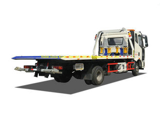 China FAW 8 Ton Road Flatbed Recovery Truck Wrecker For Car SUV Vehicle Transporter supplier