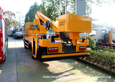 China DFAC 20m Hydraulic Telescopic Aerial Platform Truck , Truck Mounted Bucket Lift supplier