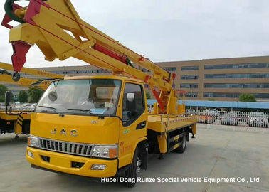 China Hydraulic Rising Truck Mounted Aerial Platform , 16-18 Meter High Altitude Trucks supplier