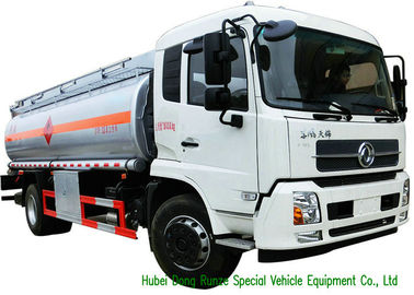 China Large Capacity Oil Tanker Truck , Fuel Delivery Tankers With DFA Chassis supplier