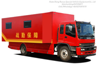 China ISUZU Outdoor Mobile Camping Truck With Living Room supplier