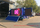 China Blue Digital Mobile Advertising Truck , Advertising Full Color LED Screen Truck factory