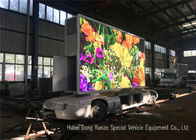 Outdoor Full Color Mobile LED Advertising Trailer With Hydraulic Lifting System