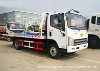 China FAW 3 Ton Road Wrecker Tow Truck / Transporter Recovery Truck With Crane EURO 5 factory
