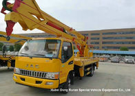 Hydraulic Rising Truck Mounted Aerial Platform , 16-18 Meter High Altitude Trucks