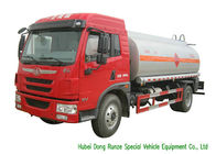 FAW Gasoline Tanker Truck For Vehicle Refueling With PTO Fuel Pump And Dispenser