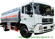 Large Capacity Oil Tanker Truck , Fuel Delivery Tankers With DFA Chassis