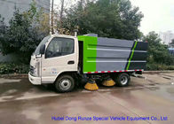 China KAMA Mini Road Cleaning Truck With 4 Brushes , Truck Mounted Sweeper factory