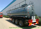 Heavy Duty Chemical Tank Trailers For 30 - 45MT Sodium Hydroxide Transportation