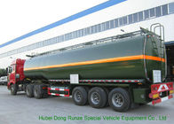 3 Axles Chemical Tanker Truck for 30 - 45MT Hydrofluoric Acid / HCL Transport