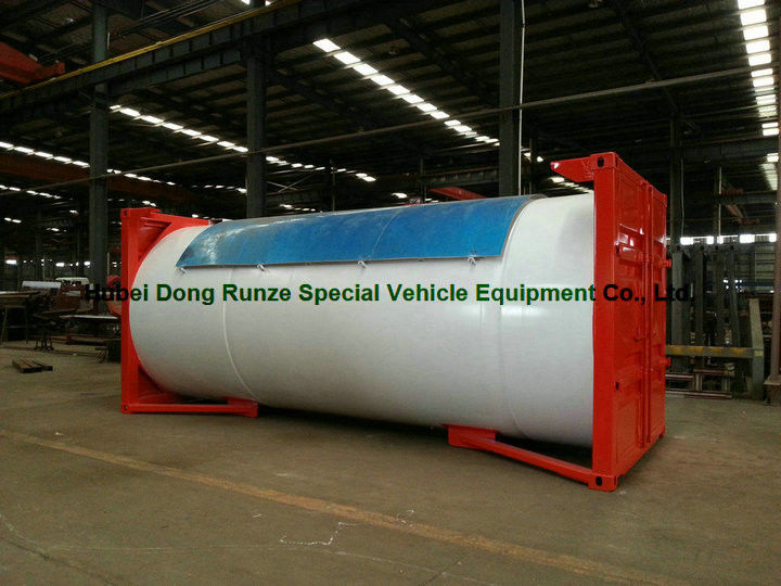 Steel 20ft LPG Storage Tanks Container With Pump , LPG Skid Station ...