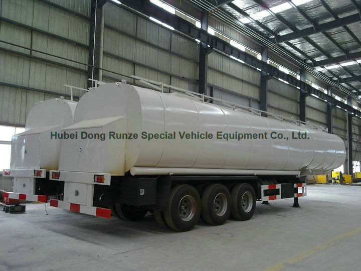 50ton liquid asphalt tanker semi trailer with 2tbl45p baltur heating and insulation