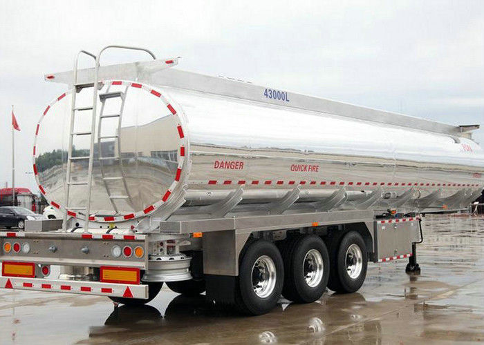 Liquid Flammable Petrol Oil Tank Semi Trailer 3 Axles For