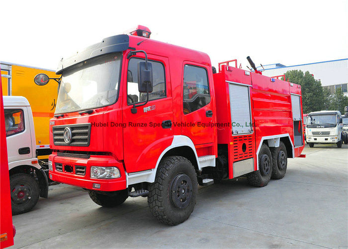 Dongfeng AWD 6x6 Off Road Fire Fighting Truck With Frame Structure Type