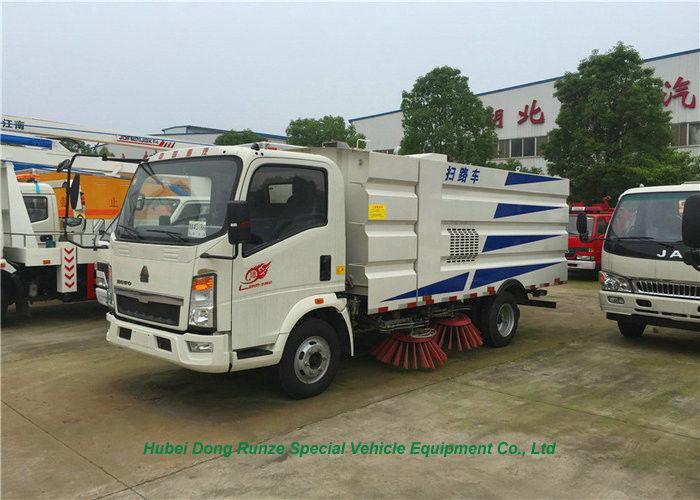 ZZ1187K501GE HOWO Road Sweeper Vehicle Sweeper Truck With