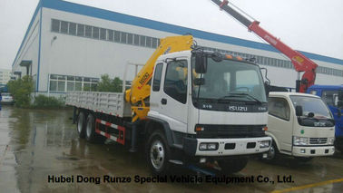 China ISUZU 5 Ton -14 Ton Truck Mounted Crane With Telescopic Boom And Knukled Boom factory