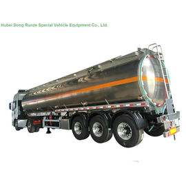 5083 Aluminium Alloy Tank Semi Trailer 40000L , Fuel Oil Delivery Tanker 3 Axle