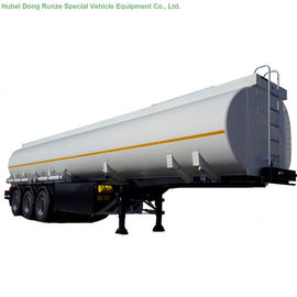 China 50 -55Cbm Stainless Steel Tanker Semi Trailer , 3 Axle Gasoline / Diesel Fuel Tank Trailer distributor