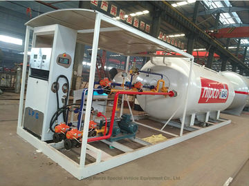 China Skid Mounted LPG Gas Tank For Mobile LPG Filling Stations With  Digital Scales distributor