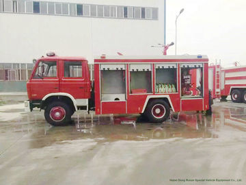 China Dongfeng Fast Fire Brigade Truck , Fire Rescue Vehicles With 170HP/125kw Engine distributor