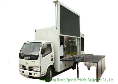 China Moving LED Display Advertising Truck With Stage Lifting System For Outdoor Showing distributor