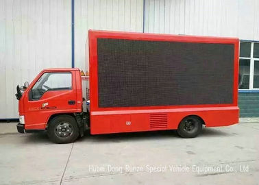 China JMC P10 Full Color LED Billboard Truck With 15KW OUMA Super Silent Generator factory