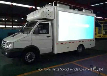 China IVECO P10 Full Color Screen LED Video Truck With Digital LED Billboard Box factory