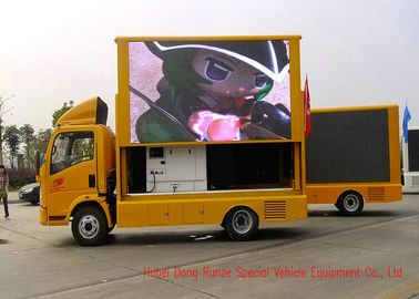 China HOWO Mobile LED Video Display Truck For Sports Events / Outdoor Entertainment factory