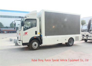 China HOWO Digital LED Billboard Truck , Mobile LED Screen Truck For Advertising factory
