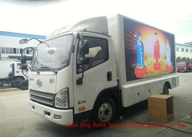 China FAW Digital Mobile LED Billboard Truck Three Side For Road Show / Live Broadcasting factory