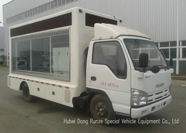 China ISUZU Mobile LED Billboard Truck With Scrolling Light Box For Sales Promotion AD distributor