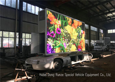 China Outdoor Full Color Mobile LED Advertising Trailer With Hydraulic Lifting System  distributor