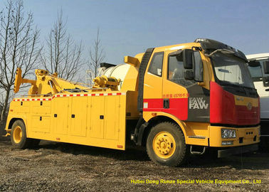 China Heavy Duty 12 Ton Wrecker Tow Truck For Car Recovery In City Road , Suburb Way distributor