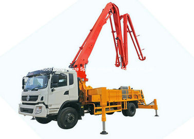 China  DFAC King Run 35m Concrete Boom Pump Truck , Truck Mounted Concrete Mixer distributor