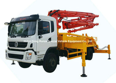 China 26m -31m Small Mobile Concrete Mixer Pump Truck With DFAC King Run Chassis distributor