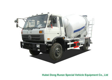 China Industrial 4x2 / 4x4 Mobile Concrete Agitator Truck 6 Cbm With 3 Seater distributor