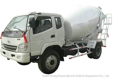 China T. King Chassis Concrete Mixer Truck 2 CBM , Ready Mix Cement Trucks distributor