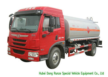 China FAW Gasoline Tanker Truck For Vehicle Refueling With PTO Fuel Pump And Dispenser factory