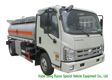 China FOLRAND 3000L Mobile Fuel Transport Trucks , Propane / Gasoline Tanker Truck factory