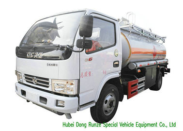 China 3000L - 6000L Crude Oil Tanker Truck , Mobile Fuel Oil Delivery Truck distributor