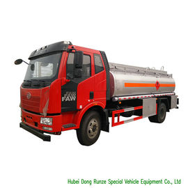 China FAW 9CBM Petroleum Oil Tanker Truck For Transport With 3 Persons Seater distributor